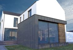 We have built many houses under planning NI getting planning permission and building control approval. Certified Passive house and zero carbon house House Cladding, Facade House, House Roof, House Facades, Scandinavian Architecture, Farmhouse Architecture, Building Design, Building A House, 3 Storey House Design