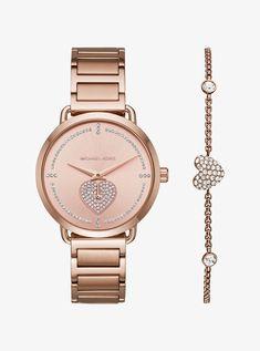 bad624194ba Portia Pavé Rose Gold-Tone Watch and Bracelet Set Michael Kors Watch