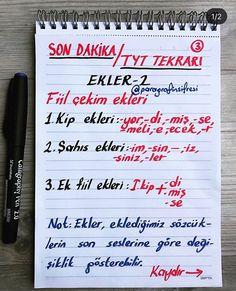 SON DAKİKA TYT TÜRKÇE DİL BİLGİSİ TEKRARI 🔥🔥🔥🔥 @paragrafinsifresi farkıyla... 📍📍📍✌️Sen de hazırsan istediğin bölüm seni bekliyor!!! Haydi… Last Minute, Learn Turkish Language, Language And Literature, Study Notes, Study Motivation, Study Tips, My King, Grammar, Bullet Journal