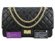 Chanel Reissue 227 Double Flap 32cm Black Color Distressed Leather With Gold Hardware Condition Good  Ref-YLTR-1 🏠Bangsar showroom + 6 010 220 3384 + 6 03 2095 6266 ❤Bangsar Village showroom + 6 012 955 3384 + 6 03 2282 0066 ❤Ampang showroom + 6 03 4251 0013 ✉Email- luxuryvintagekl@gmail.com