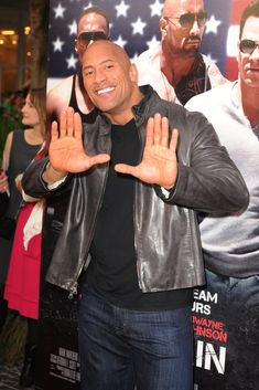 """Dwayne Johnson attends the """"Pain & Gain"""" premiere on April 11, 2013 in Miami Beach, Florida."""