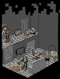 Skelebros moving in Undertale Drawings, Undertale Fanart, Undertale Comic, Luigi, Pixel Art, Toby Fox, Rpg Horror Games, Pokemon, Video Game Art