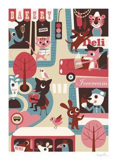 Ingela P. Arrhenius: too too cute children's poster