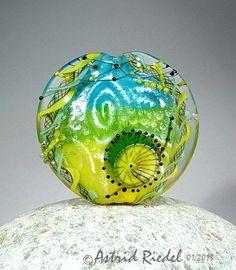 Art Glass Focal bead- lampwork by Astrid Riedel