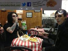 Chris Motionless (right) with Devin Sola (left). ♥♥♥. #ChrisMotionless #MotionlessinWhite #DevinSola