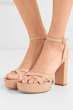 Find and compare Poppy 70 leather platform sandals across the world's largest fashion stores! Nude Heeled Sandals, Shoes Sandals, Bridesmaid Sandals, Bridesmaids, Givenchy Shirt, Rossi Shoes, Stylish Sandals, Shoe Collection, Designer Shoes