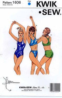 One piece Bathing suit  bikini swimsuit sewing pattern by HeyChica, $9.99