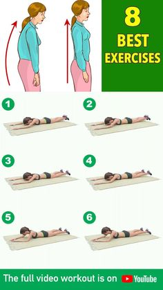 8 Best Posture Exercises Straighten Your Spine Fitness Workouts, Full Body Gym Workout, Back Fat Workout, Gym Workouts Women, Gym Workout Videos, Gym Workout For Beginners, Abs Workout Routines, Gym Workout Tips, Fitness Workout For Women