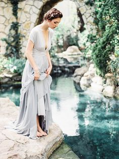 Bridal in pale blue gown | Bridal inspiration shoot at old world castle | itakeyou.co.uk