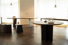 Runder Tisch in Eiche weiß geölt. Weißer Eiche Tisch nach Maß. Tisch rund von MBzwo.