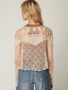 beautiful crochet top from free people