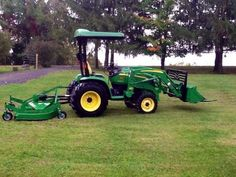 2006 John Deere 3320 Tractor Loader Attachments 2006 John Deere 3320 transmission with power reverser, quick attach loader with HD forks and regular bucket. Like new Frontier 72 HD finish Tractor Loader, Winning The Lottery, Forks, My Dream Home, Tractors, Bucket, Canada, Bobby Pins, My Dream House