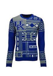 Kentucky Mens Blue Big Logo Ugly Sweater