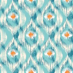 Ikat pattern with peacock feathers stock vector art & more images of Motif Ikat, Ikat Pattern, Pattern Art, Pattern Design, Fabric Wallpaper, Pattern Wallpaper, Textures Patterns, Print Patterns, Indian Embroidery Designs