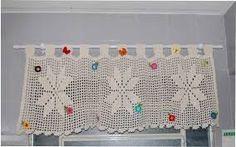 grafico da cortina com a flor catavento em croche - Pesquisa Google