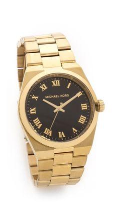 Michael Kors gold/black watch