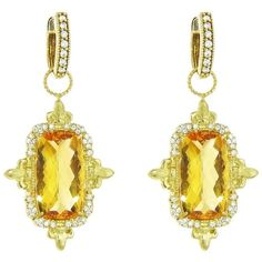 Jude Frances Provence Champagne Diamond Cross Necklace 6WUGL