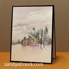WCMD 5: Art Impressions Watercolor Cabins