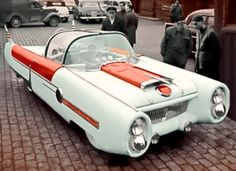 http://chicerman.com  carsthatnevermadeit:  Almar Nordhaug Dream Car 1950s. A home made custom car built byAlmar Nordhaug of Nesset Norway.Built while working at a barrel factory in the Faroe Islands the dream was based on a Vauxhall Cresta and was designed to resemble the1954 Ford FX-Atmos concept car. The glass roof was taken from an aircraft.In 2011 a drawing of Almars Dream Car was used on stamps on the Faroe Islands  http://ift.tt/1Tssx9B  #cars