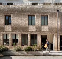 Silchester by Haworth Tompkins Modern Architecture Design, Brick Architecture, Facade Design, Residential Architecture, Exterior Design, Types Of Bricks, Brown Roofs, Brick Detail, Brick Texture