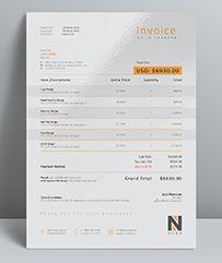 Clean Invoice  Letterhead