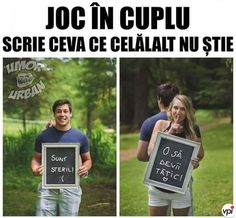Joc in cuplu - Viral Pe Internet Really Funny, Funny Texts, Haha, Funny Pictures, Humor, Comics, Fun Jokes, Meme, Random