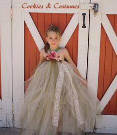 old willow,olive green and ivory lace flower girl dresses,for weddings