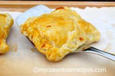 Pasteles de Jamón y Queso (Ham and Cheese Pastries) http://www.mycolombianrecipes.com/pasteles-de-jamon-y-queso-ham-and-cheese-pastries
