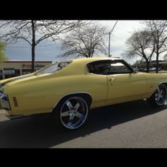 chevelle 1970 Chevrolet Chevy musclecar yellow american racing wheels