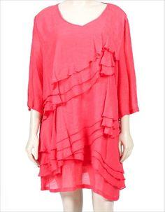 Women/'s Pink Empire Waist Bohemian Top w Bell Sleeves Pink Gauze Summer Top