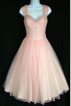 1950's pink prom dress