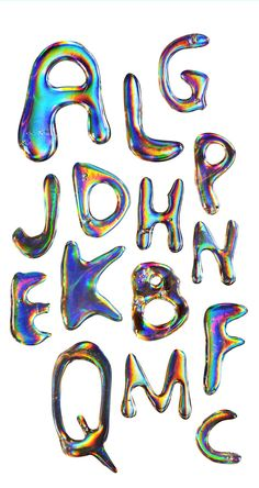 i made an experimental font with technokol on a holographic paper***