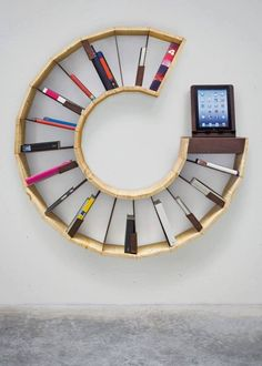 Round Bookshelf / CD storage