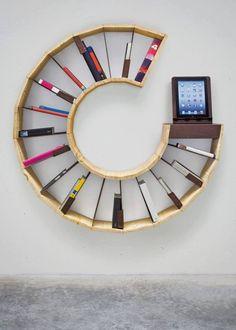 Round Bookshelf / CD storage
