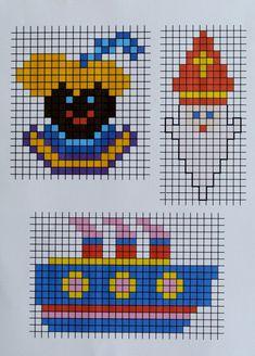 By MiekK: Sinterklaas Knutselen Cross Stitch Cards, Cross Stitching, Saints For Kids, Concept Art Gallery, Pixel Crochet, Melting Beads, Diy Presents, Marianne Design, Creative Activities