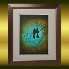 Whimsical Birds and Dragonflies Art Print   by RusticGoth on Etsy, $13.00