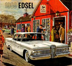 1959 Edsel at the Horse & Hound