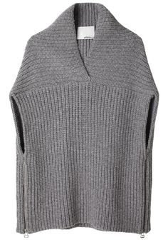 Phillip Lim Shawl Sweater Vest, like the details. Loom Knitting, Knitting Machine, Crochet Clothes, Pulls, Knitwear, Knit Crochet, Knitting Patterns, My Style, Sweaters