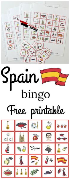 Spain bingo game free printable! Great game to add to your cultural studies!
