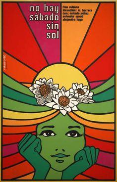 Antonio Fernandez Reboiro, No hay sabado sin Sol Vintage Movies, Vintage Posters, Painting The Roses Red, Acid Art, Graffiti, Guache, Retro Art, Psychedelic Art, Vintage Advertisements