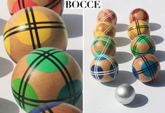 The prettiest Bocce Balls I've ever seen. It's a simple game to add to your backyard. ~EBM