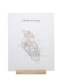 Copper Foiled Charleston Map