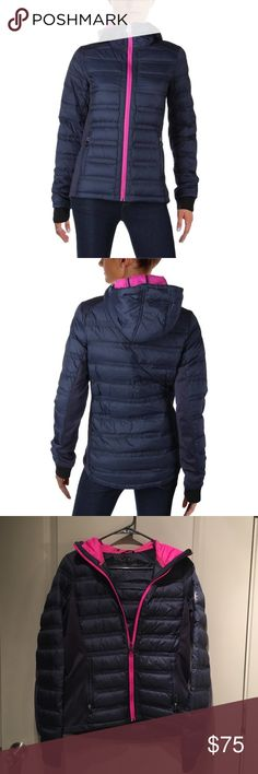 Michael Kors Women's Outwear Trim Jacket Michael Michael Kors Women's Outwear Contrast Trim Jacket. Deep navy in color with magenta trim. Excellent condition-no marks, wear, or blemishes. Size M. MICHAEL Michael Kors Jackets & Coats Puffers