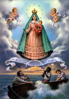 Copia de una famosa pintura de la Virgen de la Caridad del Cobre, que a finales del siglo pasado prácticamente no faltaba en ninguno de los hogares cubanos.