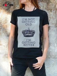 I'm Getting Better Quote Tshirt / Graphic CROWN Tee / by Cotton9