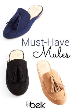 One of the hottest shoe styles this season? Mules. From flat and block-heel mules to casual sneaker and espadrille mules, we can't get enough of this fashion-forward shoe trend. The best part? They're just as functional as they are stylish. Style them with your favorite pair of raw-hem denim or a pantsuit—either way, they're bound to add some sophistication to any outfit of the day. Shop Crown and Ivy™ mules in store or online at Belk.com.