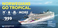 Go tropical with an incredible cruise vacation to The Caribbean on the recently renovated Norwegian Jewel from her new homeport, Houston. Book today and receive a special package that includes air fare, hotel, three specialty dinners and perks including a bottle of wine, chocolate dipped strawberries and more starting from $999. That's a savings of up to $500!