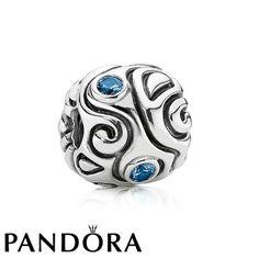 Pandora Large Blue Spinel Daydream Charm 79961 #designerjewelry