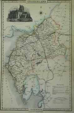 Cumberland map by Isaac Slater 1869. Lancaster city library. slatercumb.jpg 1,643×2,508 pixels