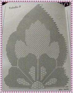 Tapete de Crochê/Passadeira/Caminho de Mesa em Crochê com gráfico